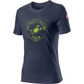 Castelli Armando T-Shirt Heren, dark steel/blue